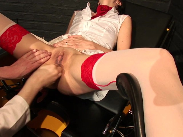 Girl having sex with a electric chair