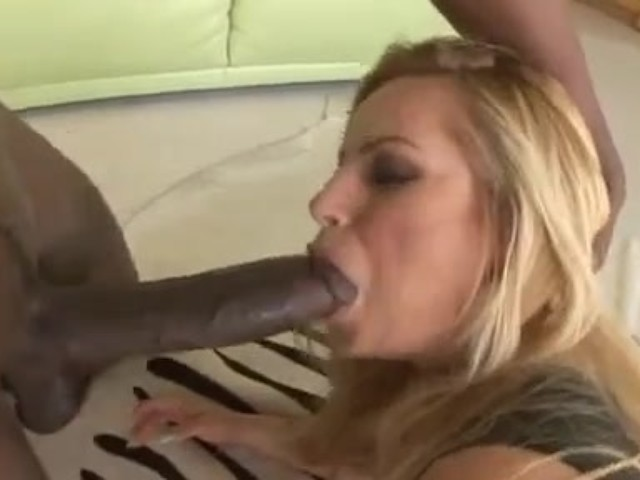cuckold wife and her sissy husband sucking big black cock
