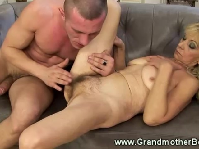 Granny takes cock, hairy pussy cum shots compilation
