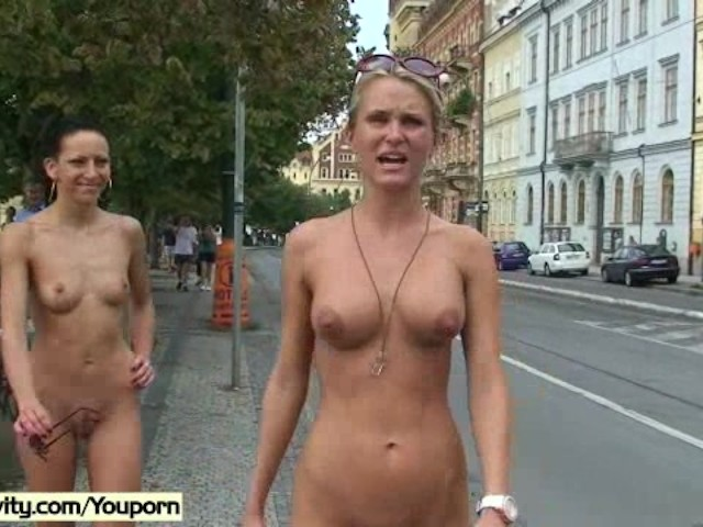 Leonelle and laura naked on public streets