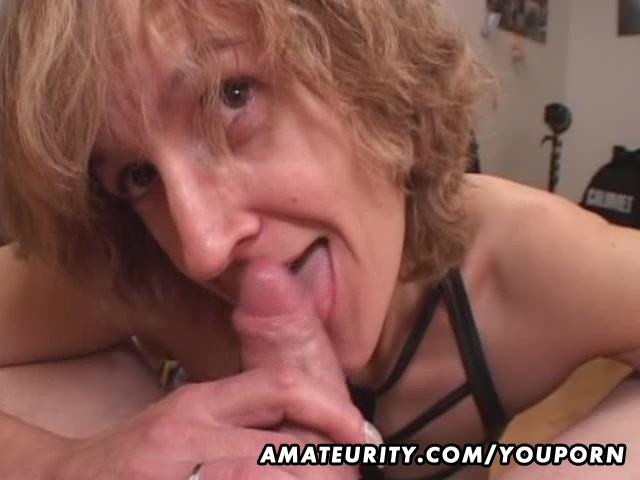 Amateur mature cum in mouth