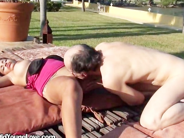 Older Guy Eating Young Pussy