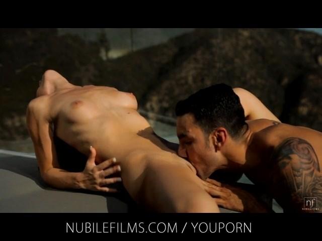 Nubile Films - Sultry vixen Vanessa Sixxx fucks neighbor on balcony #645996