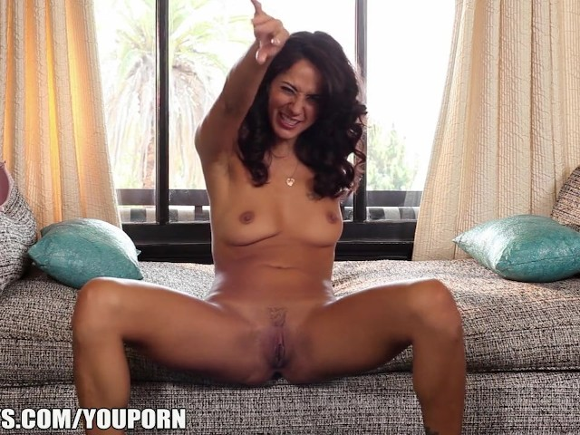 Curley Haired French Girl Plays With Her Clit While Home -2515