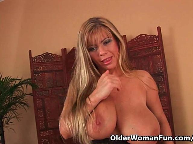 boobs big Old mom