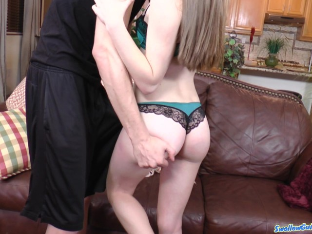 Alice march innocently opens mouth wide for cum deposit 9