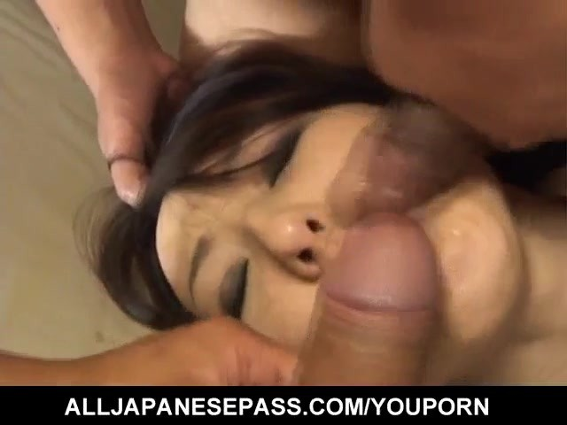 Anno Kiriya is undressed while sucking penises and gets cum #1184320