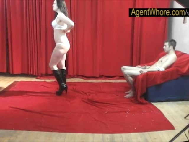 19yo casting boy gets wild striptease from nasty milf 5