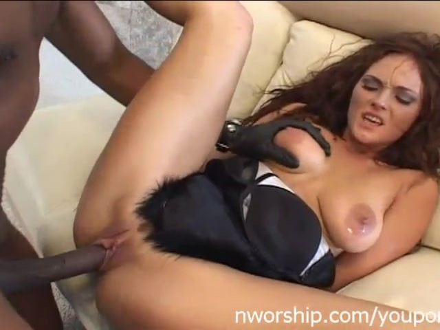 Hot Brunette Kvinde Interracial Porno med Big Black Dick-4454