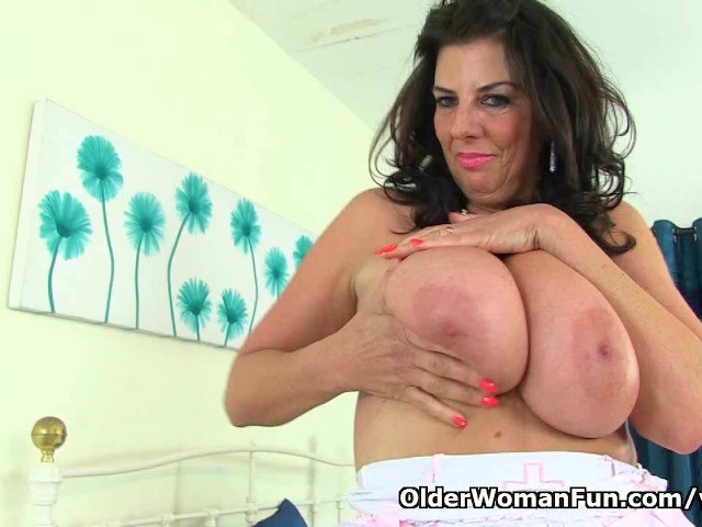 England039s sexiest nurse lulu lush exposing her natural big tits and pussy 1