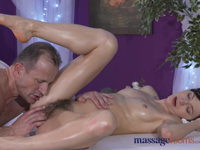 Massage Rooms Petite Model With Hairy Pussy Has Intense -3137