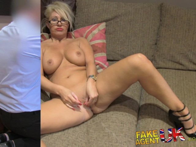 image Fakeagentuk ultra sexy blonde czech fingered fucked and cum splattered