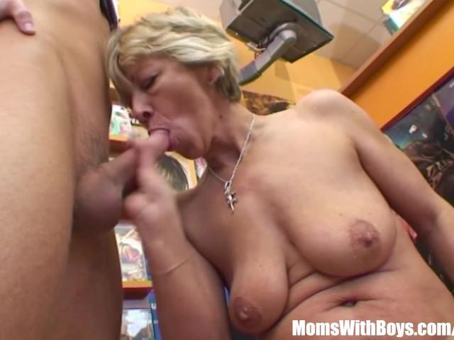 Grandma Miluska Fucking A Young Video Store Clerk - Free -2617