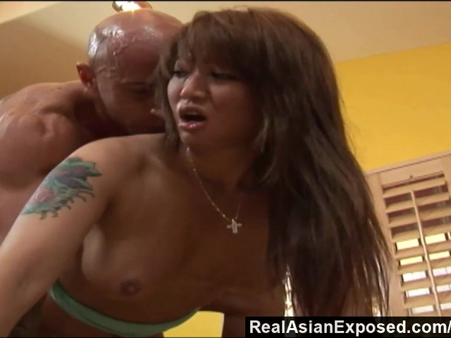 Realasianexposed big boobed asian loves a stiff cock up her ass 9