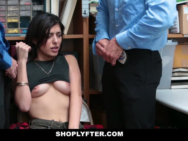 Shoplyfter hipster shoplyfter caught between two cocks - 1 part 5