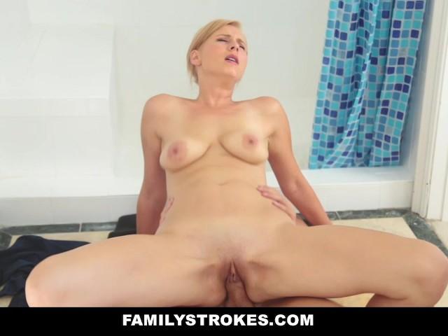 Familystrokes Blonde Milf Fucks Step Son In Shower Free Porn Videos Youporn