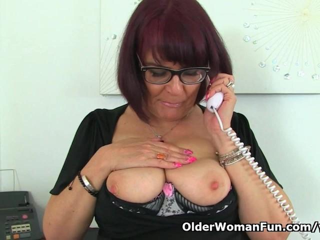 image British milf christina x makes her nyloned pussy tingle