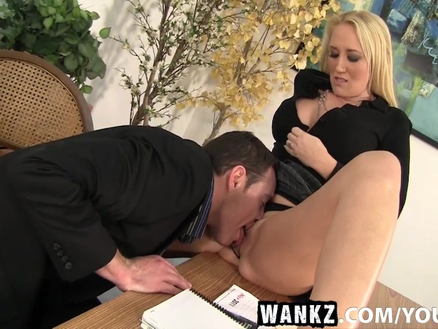 Wankz milf boss alana evans bent over the desk for a savage 7