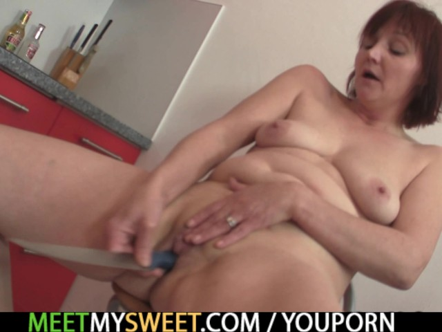 Family threesome on the kitchen with his GF #1137358