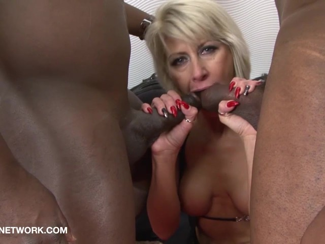 Black on white anal