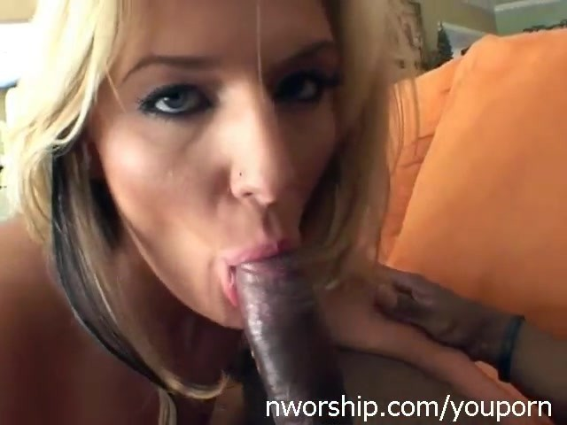 Sexy Blonde Shaved Pussy Going Crazy For Black Cock - Free -1017