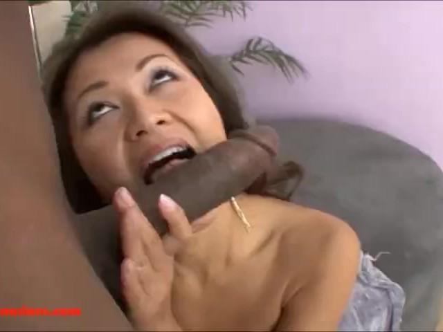 cock huge slut Asian takes