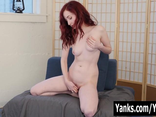 redheaded Lain Oi with a wet pussy masturbates