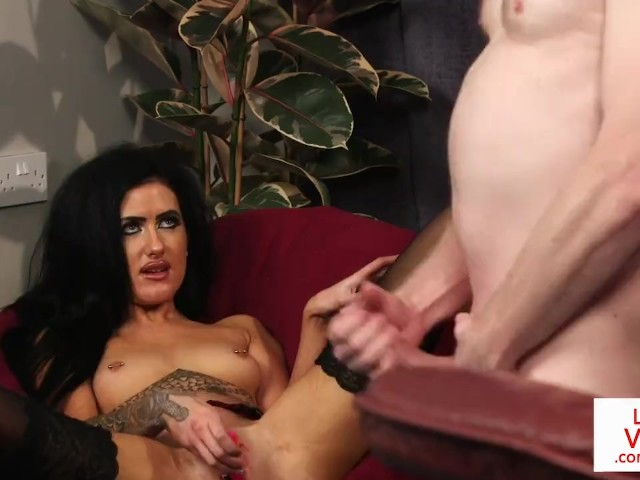 Stockinged british voyeur watches her sub tug 10