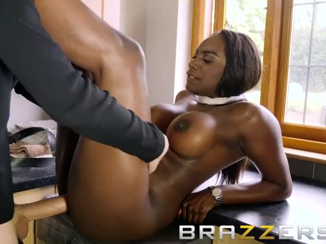Big Tit Ebony Slut Gets A Big Dick Workout - Brazzers - Free Porn Videos - Youporn-8309