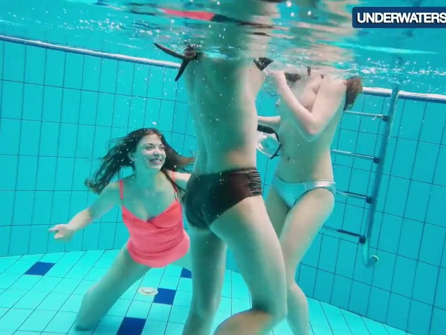 Three Hot Horny Girls Swim Together - Free Porn Videos -3257