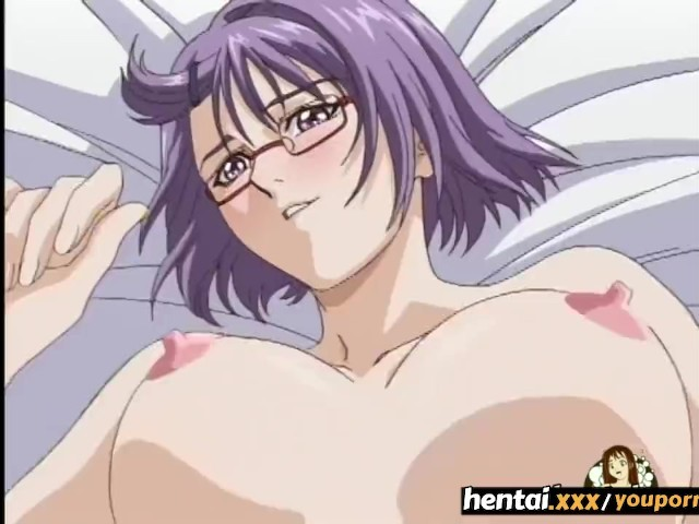 Really Hentai anime girl with nerdy glasses speaking
