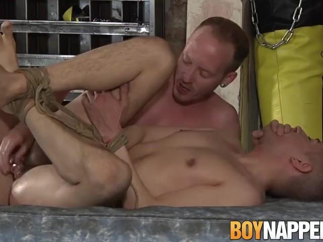 Bondage And Hardcore Anal Fucking With Two Kinky Gay Boys -8370