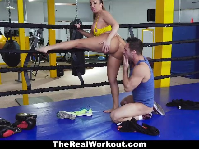 Teamskeet - Brunette With Big Tits Takes Cock Post Sparring