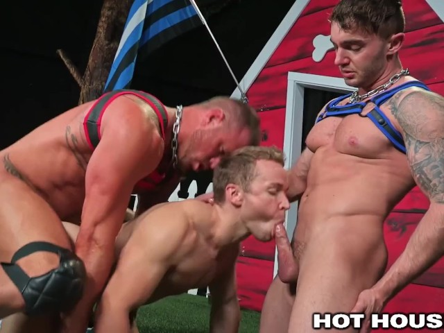 2 muscle boys dressed like dogs fuck uncut mailman like dogs 6