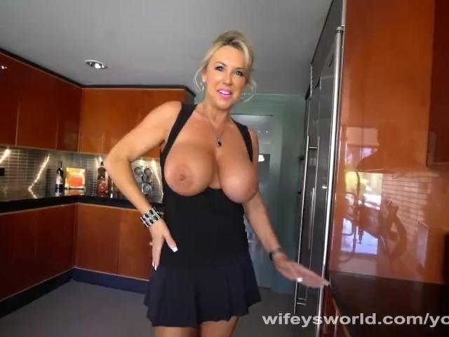 MILF With Huge Tits Sucks Strangers Cock #1139249