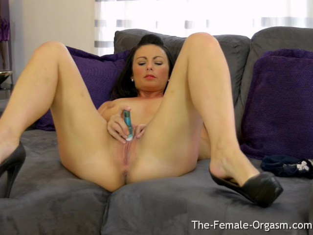 Femorg MILF Masturbates Wet Slit to Real Orgasm with Vibrator #1138764