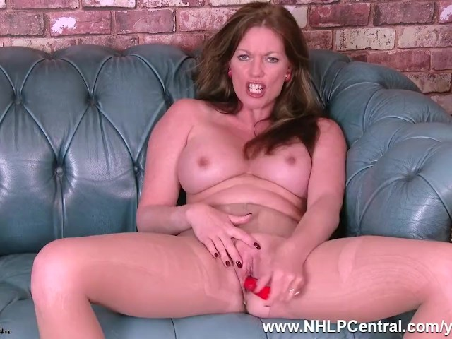 Big Boobs Milf Holly Kiss Strips Down to Nude Pantyhose Rips Open Gusset and Fucks Pussy With Toy Until She Cums