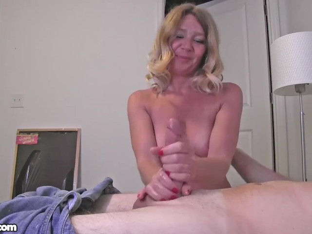 Damn, This Amateur Milf Made Him Cum From a Handjob