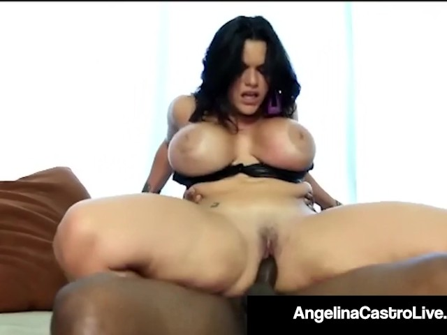 Thick Latina Angelina Castro Wrecked by a Big Black Cock!