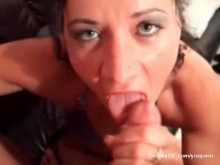 Milf caught on camera giving oral sex