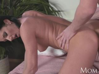 MOM Horny Milf sucks and fucks hard cock of shy young guy