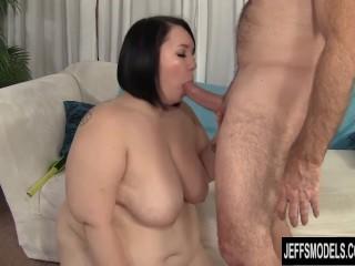 BBW Alexxxia Allure Measures up a Cock