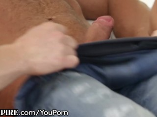 BiSexual BodyBuilder Drills Ass in MMF Threesome!