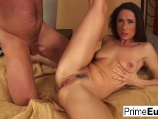 Fantastic Brunette Lara Gets Her Pussy Rocked Hard