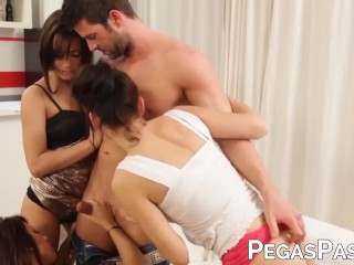 Quebecoise succubi doggystyled in big dick fourway
