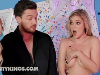 Reality Kings – Thicc milf and her skinny stepdaughter share in ffm threesome
