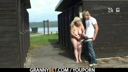 Granny is banged in...