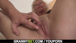 Lovely old blonde takes...