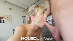 HOLED Blonde Zoey Monroe...