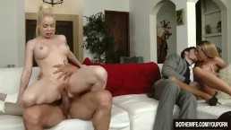 Swinging blonde wife Nikki...